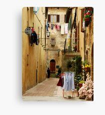 Wash Day-Pienza, Italy Canvas Print