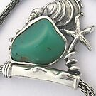 tideline with chrysoprase by betty porteus