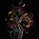 Floral fantasy background by Olga Altunina