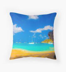 St Vincent Beach Throw Pillow
