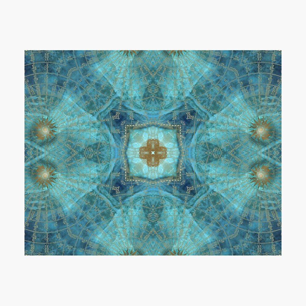 Mandala wind rose Photographic Print