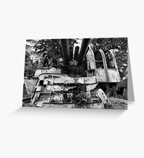 12.7-cm WWII Japanese Artillery - Pohnpei, Micronesia Greeting Card