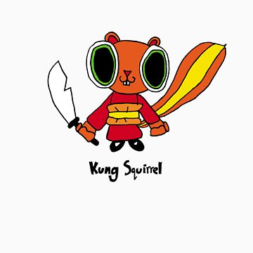 kung squirrel by lucyandhenry