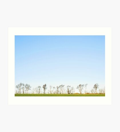 The minimalistic landscape of Jæren Art Print