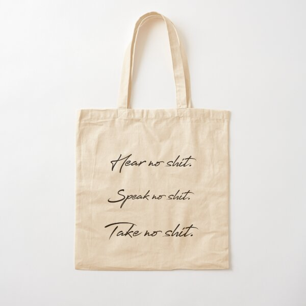 MOTTO (black) Cotton Tote Bag