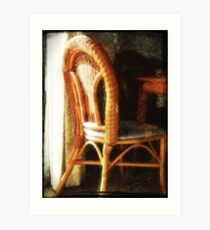 Wicker chair Art Print