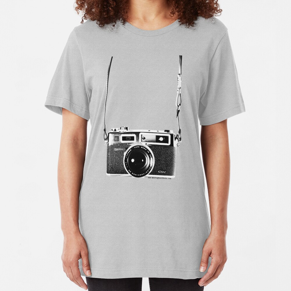 Vintage 35mm Rangefinder Camera Yashica Electro 35 GSN Slim Fit T-Shirt