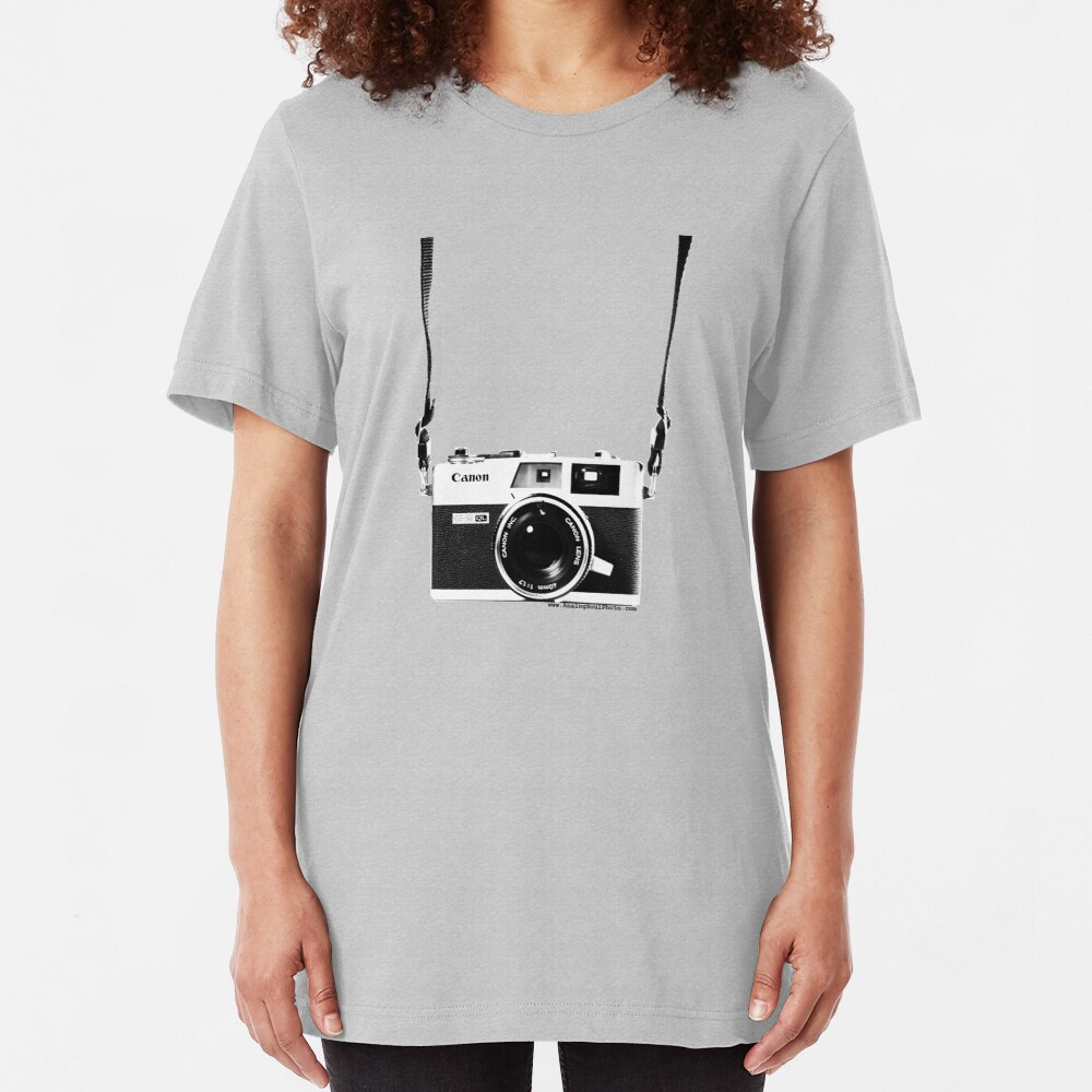 Vintage 35mm Rangefinder Camera Canon Canonet QL17 GIII Slim Fit T-Shirt