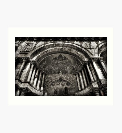 Threshold - St Mark's Basilica, Venice Art Print