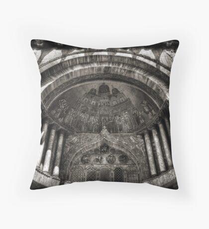 Threshold - St Mark's Basilica, Venice Throw Pillow