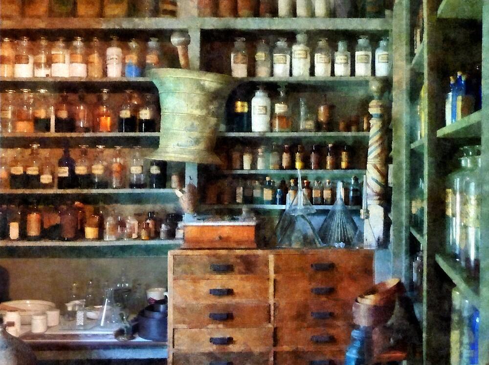Back Room of Drug Store by Susan Savad