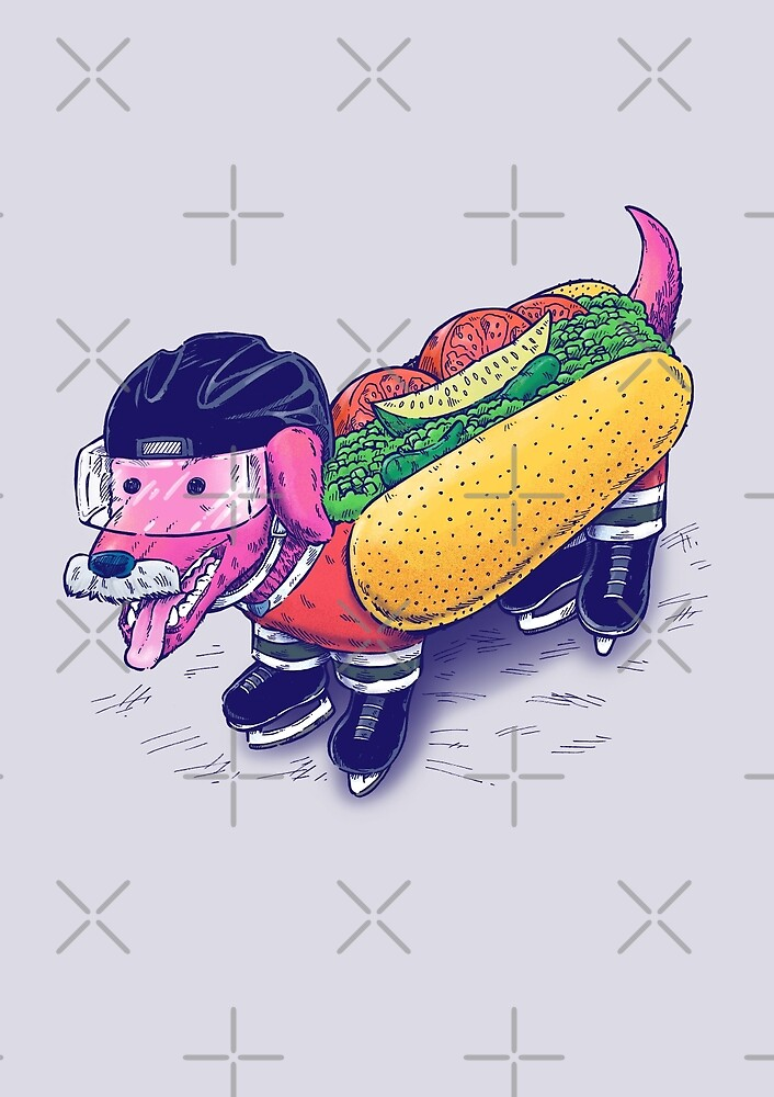 Chicago Hockey Dog by nickv47