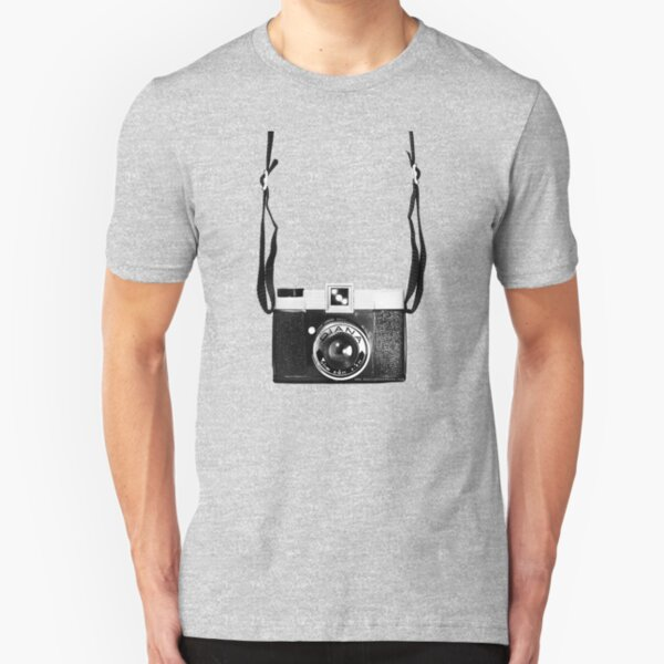Vintage Camera Diana Plastic Toy Lomo 120 Film Slim Fit T-Shirt
