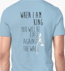 """""""When I am King, you will be first against the wall."""" Radiohead - Dark T-Shirt"""