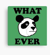 Whatever Funny Panda Canvas Print