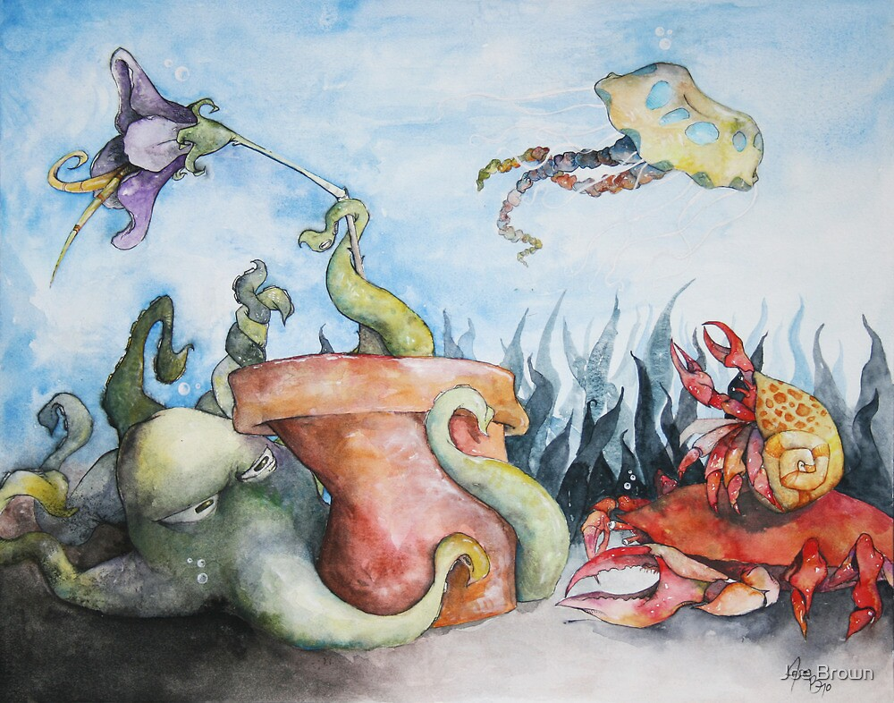 The Protective Octopus  by Joe Brown