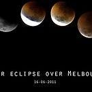 Lunar Eclipse over Melbourne on 16-6-2011 by Nathan Senevirathne