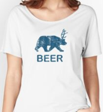 Vintage Beer Bear Deer Women's Relaxed Fit T-Shirt