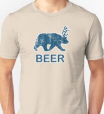 Vintage Beer Bear Deer T-Shirt