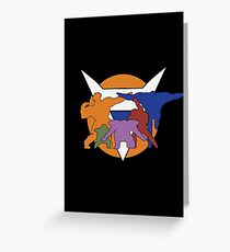Ginyu Force Pose and Logo (Dragonball Z) Greeting Card