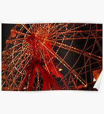 Luna Park Ferris Wheel Poster