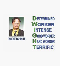 Dwight Schrute Photographic Print