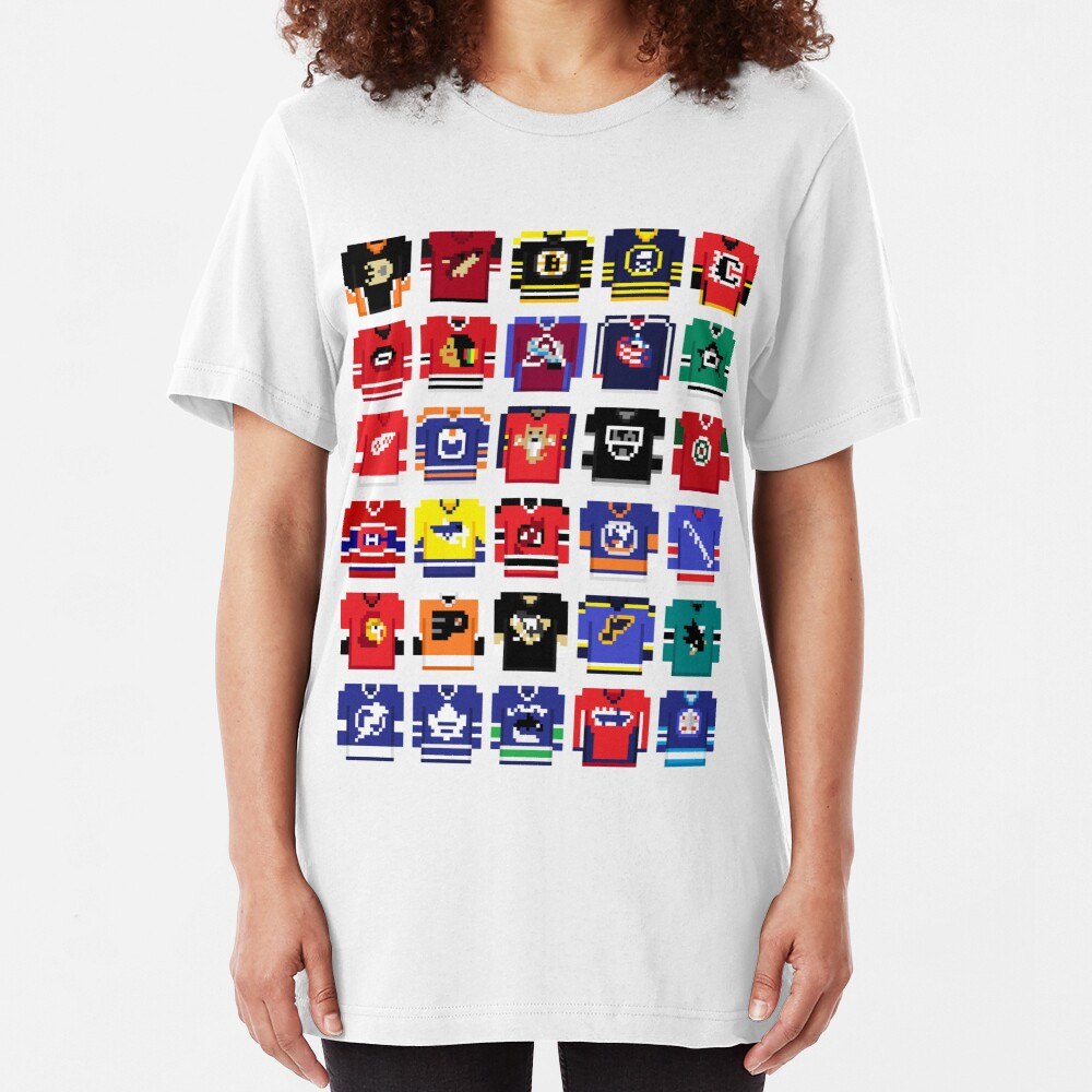 8-Bit Hockey Jerseys '16 Slim Fit T-Shirt