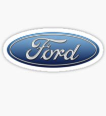 Ford Logo Blau Oval Sticker