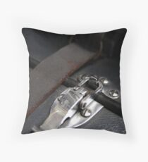 Clipped macro Throw Pillow