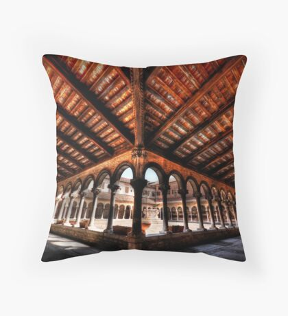 Cemetery Courtyard - Isola di San Michele, Venice Throw Pillow