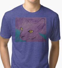 Purple Sphynx Tri-blend T-Shirt