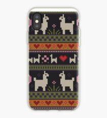 Llama Knit iPhone Case