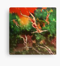 Falling through trees 1 Canvas Print