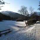 The Frozen Lochan. Glencoe by Alexandria Mia Simmons