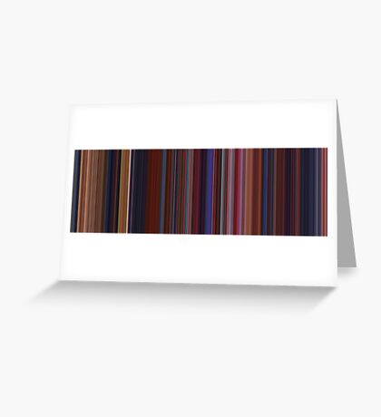Moviebarcode: Beauty and the Beast (1991) [Simplified Colors] Greeting Card