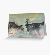 Greeting Card - Highland Falls - Perthshire, Watercolour - Sam Austrin-Miner Greeting Card