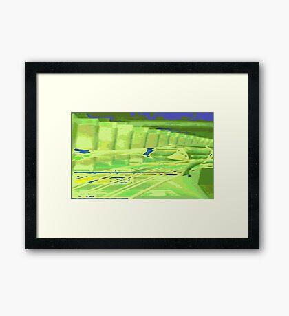 Rabbit in the Big City Framed Print