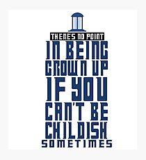 Doctor Who TARDIS Quote Photographic Print