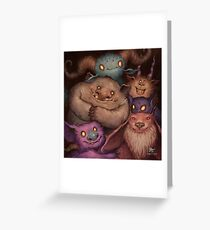 A Snuggle of Gnomes Greeting Card