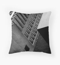 Concrete Cubism - Barbican Throw Pillow
