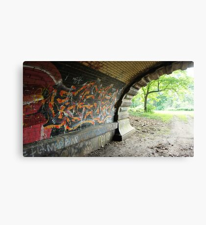 Graffiti Tunnel Canvas Print