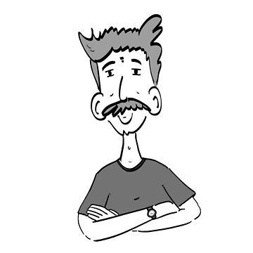 Man's face with a Moustache by apech