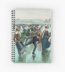 Skating by Henry Sandham (1885) Spiral Notebook
