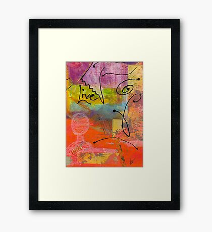 Feeling Alone and Invisible Framed Print