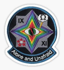 Alone and Unafraid Sticker