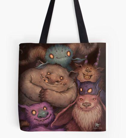A Snuggle of Gnomes Tote Bag