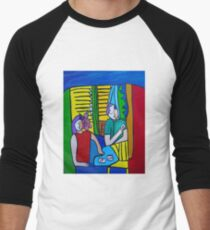 Queen of Hearts  ( ORIGINAL SOLD) Men's Baseball ¾ T-Shirt