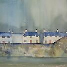 "Greeting Card - ""Little Urchin"", Pittenweem, Scotland,  Watercolour - Sam Austrin-Miner by Sam Austrin-Miner"