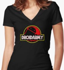 Droidarmy Women's Fitted V-Neck T-Shirt