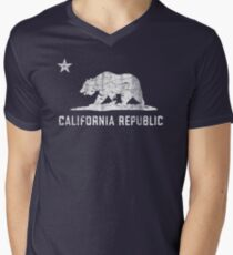 VIntage California Republic Men's V-Neck T-Shirt